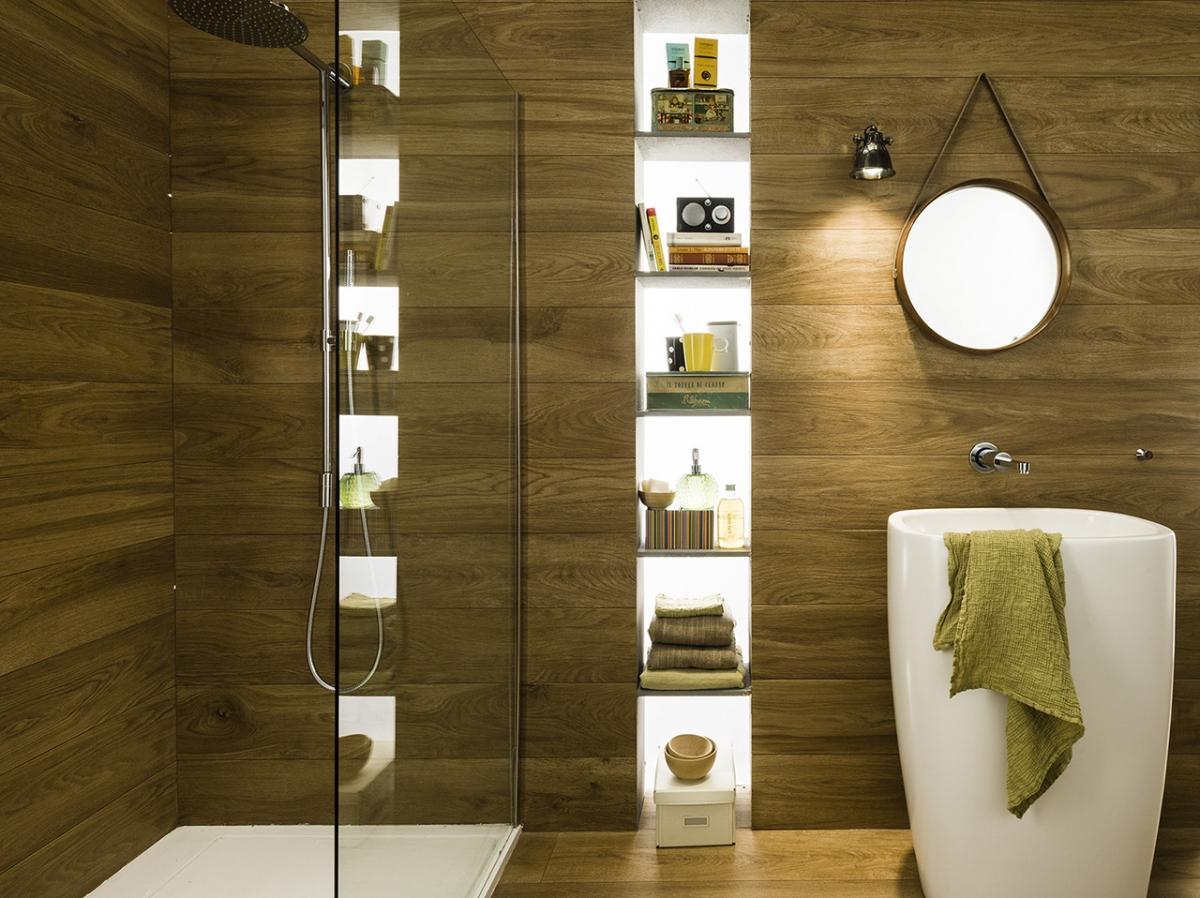 Mirage ceramiche per pavimenti rivestimenti e facciat - Bagno finto legno ...