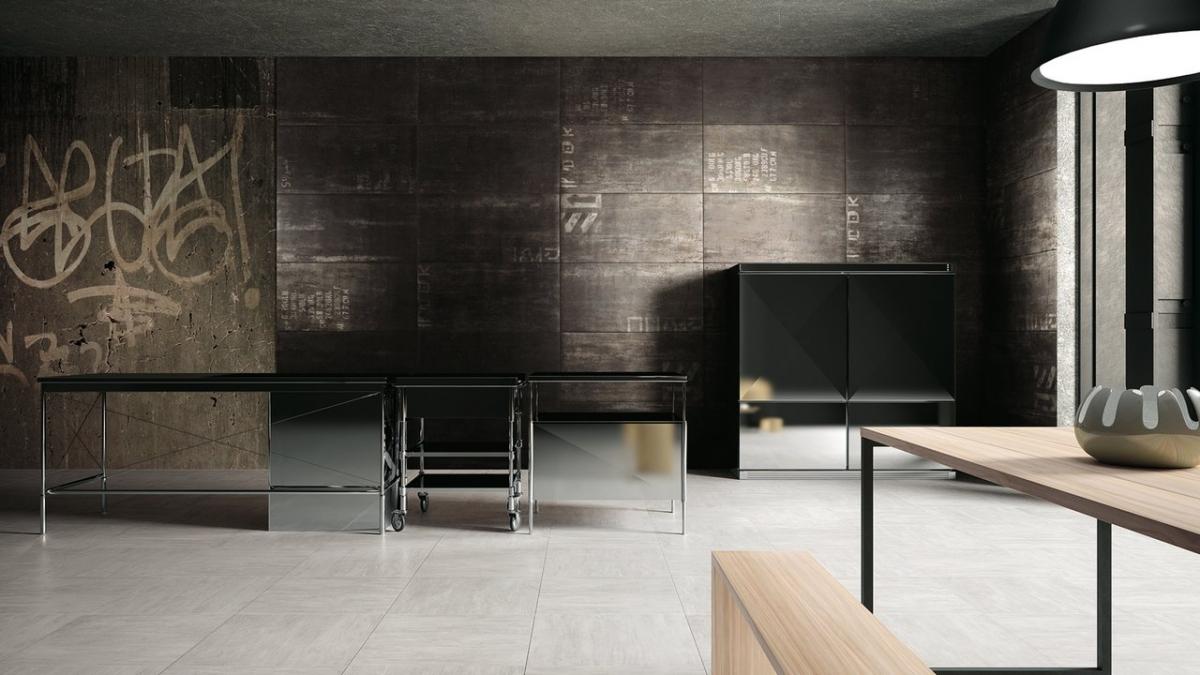Mirage ceramiche per pavimenti rivestimenti e facciat - Piastrelle effetto metallo ...